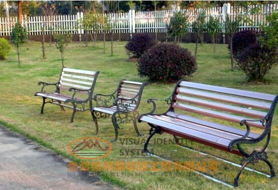 金属仿木休闲椅